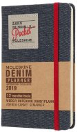Еженедельник Moleskine Limited Edition DENIM WKNT Pocket, черный
