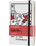 Блокнот Moleskine Limited Edition KEITH HARING Pocket, линейка, белый