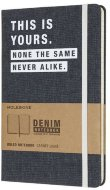 Блокнот Moleskine Limited Edition DENIM Large, линейка, This Yors